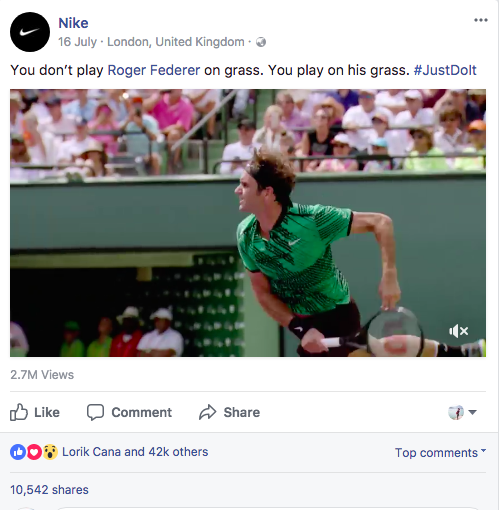 social media marketing-nike-federer