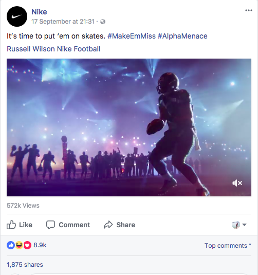 social media marketing-nike-football