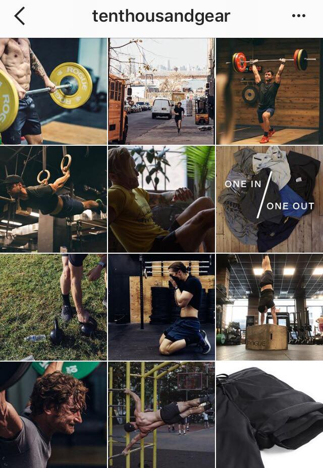 social media marketing-fitness brand-ten thousand gear