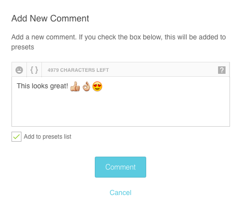New comment