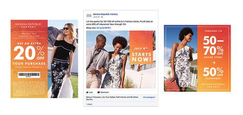 Banana republic factory facebook ad example