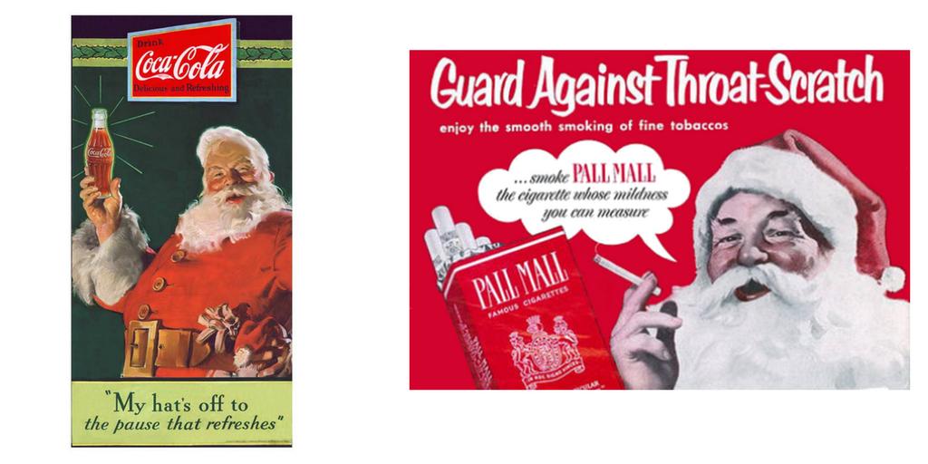 Vintage Coca Cola ad & Pall Mall cigarettes ad