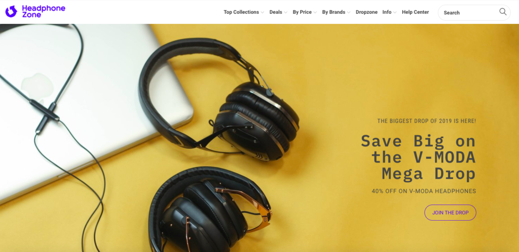 Headphone Zone Website screenshot
