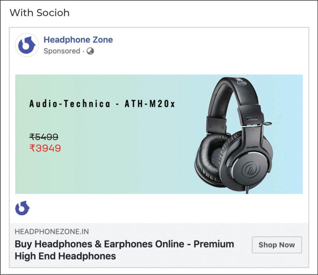 Headphone Zone link ad with socioh
