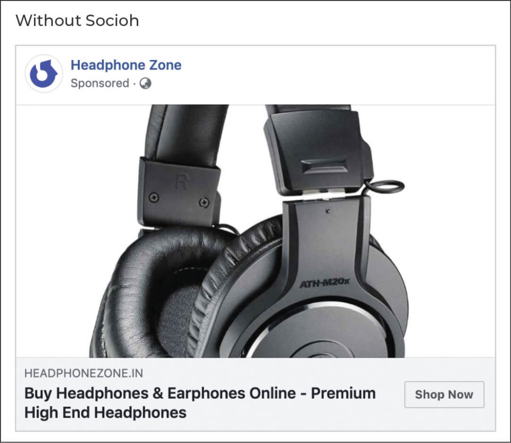 Headphone Zone link ad without Socioh