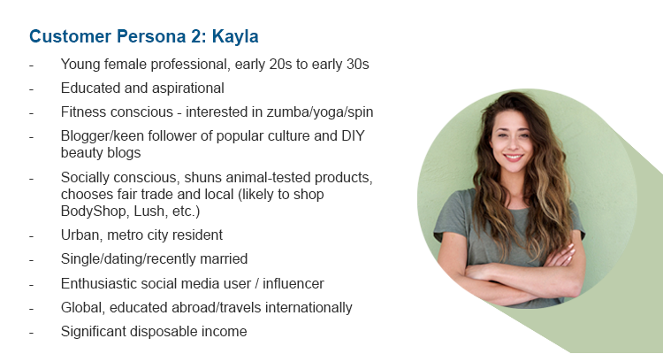 Customer Persona 1: Kayla