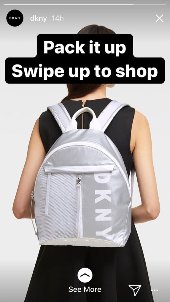 DKNY Instagram story link