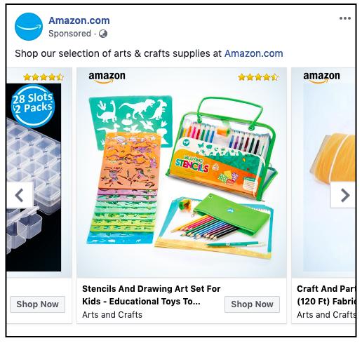 Designed Ad Catalog by Amazon