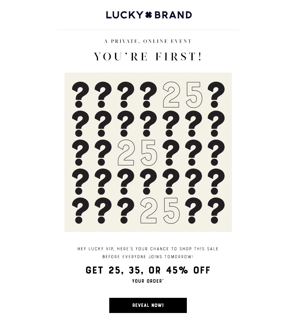 Lucky Brand - Special VIP discount