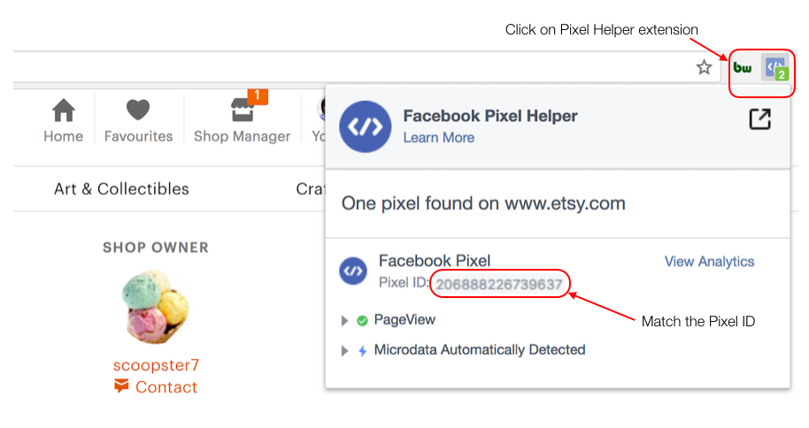 How to check the Facebook Pixel Helper Extension