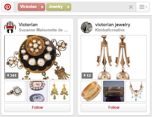 Pinterest - Keyword in board description