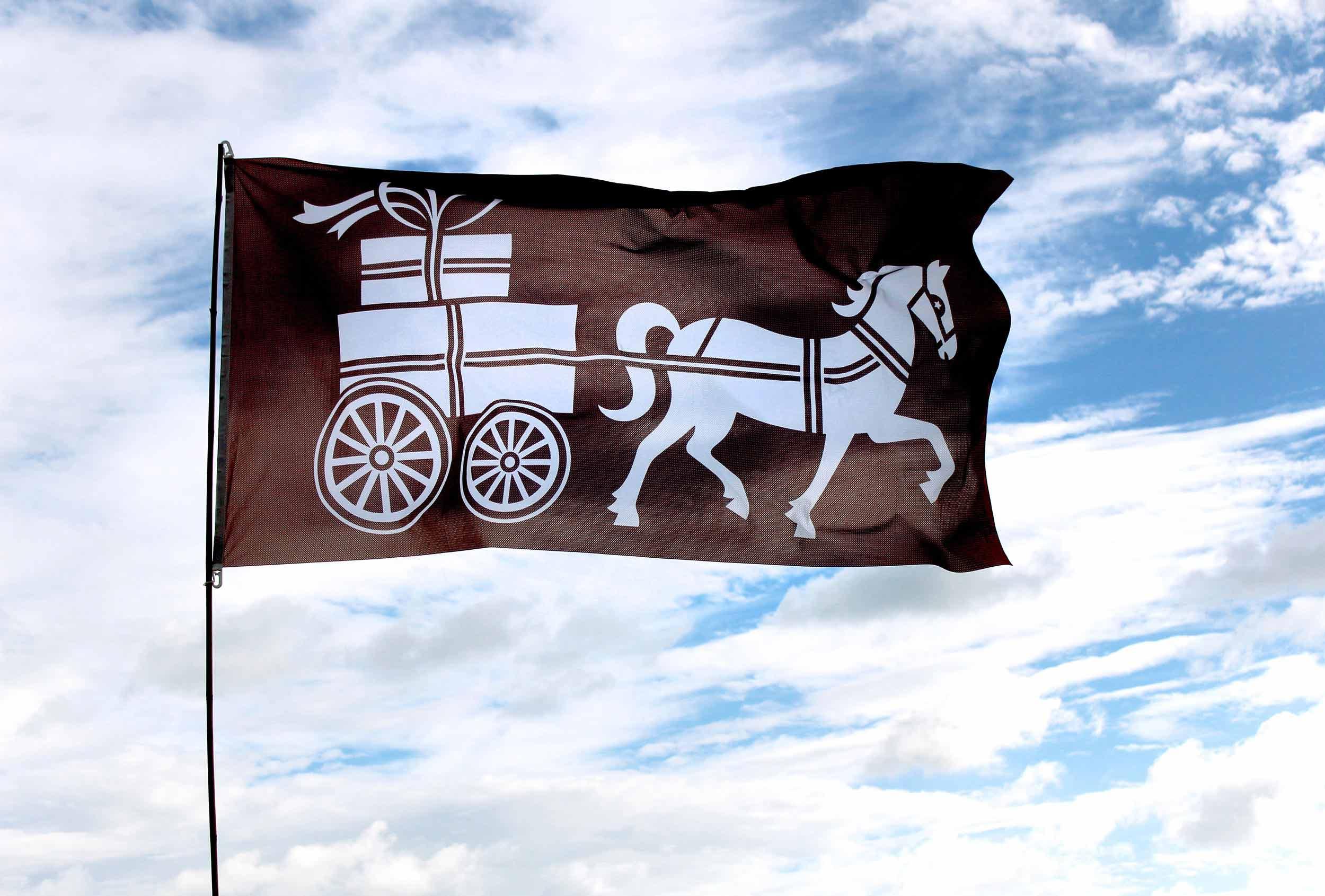 Flying the flag for Caragh Chocolates. Branding design by Distil Studio.