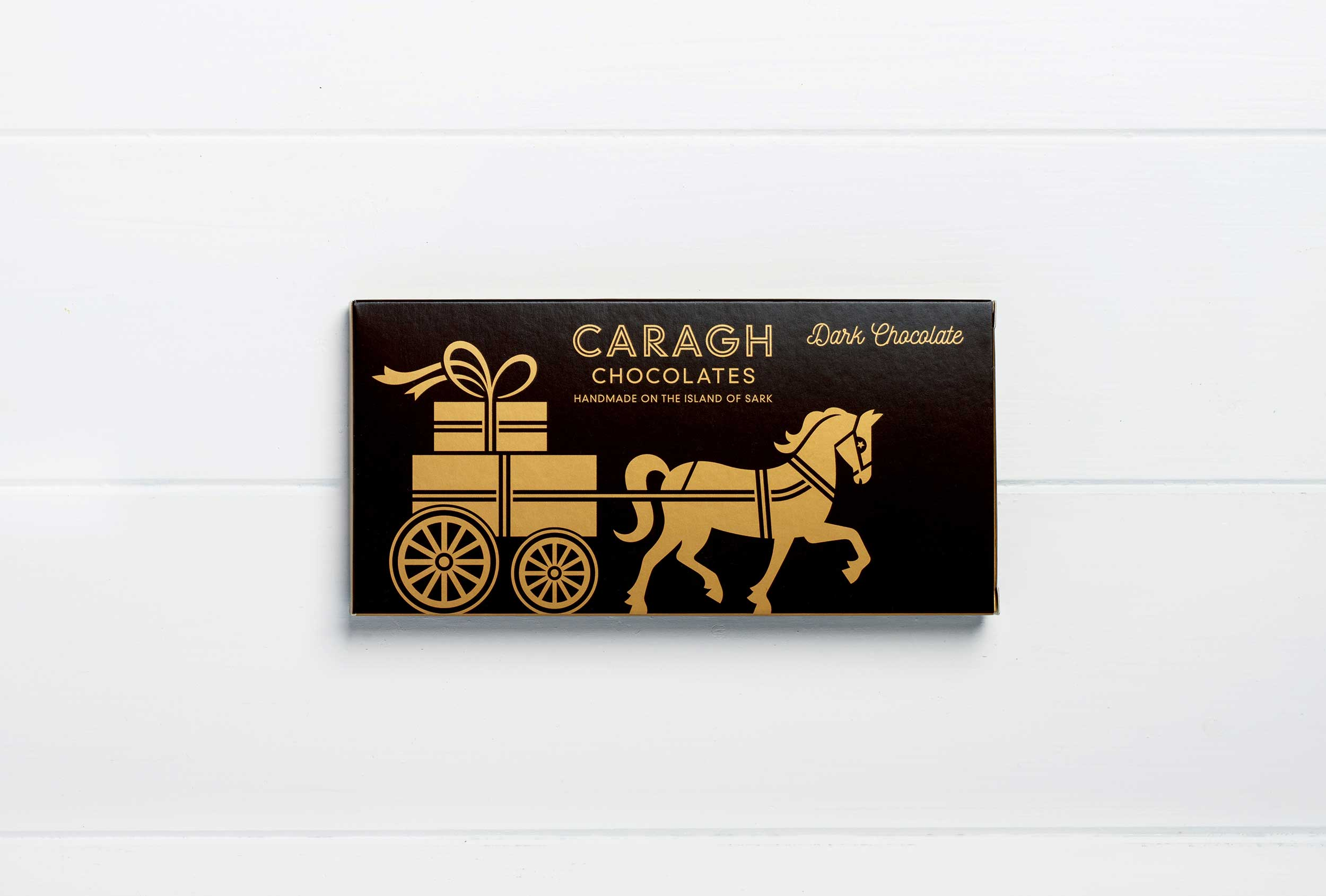 Packaging design for Caragh Chocolate bars.