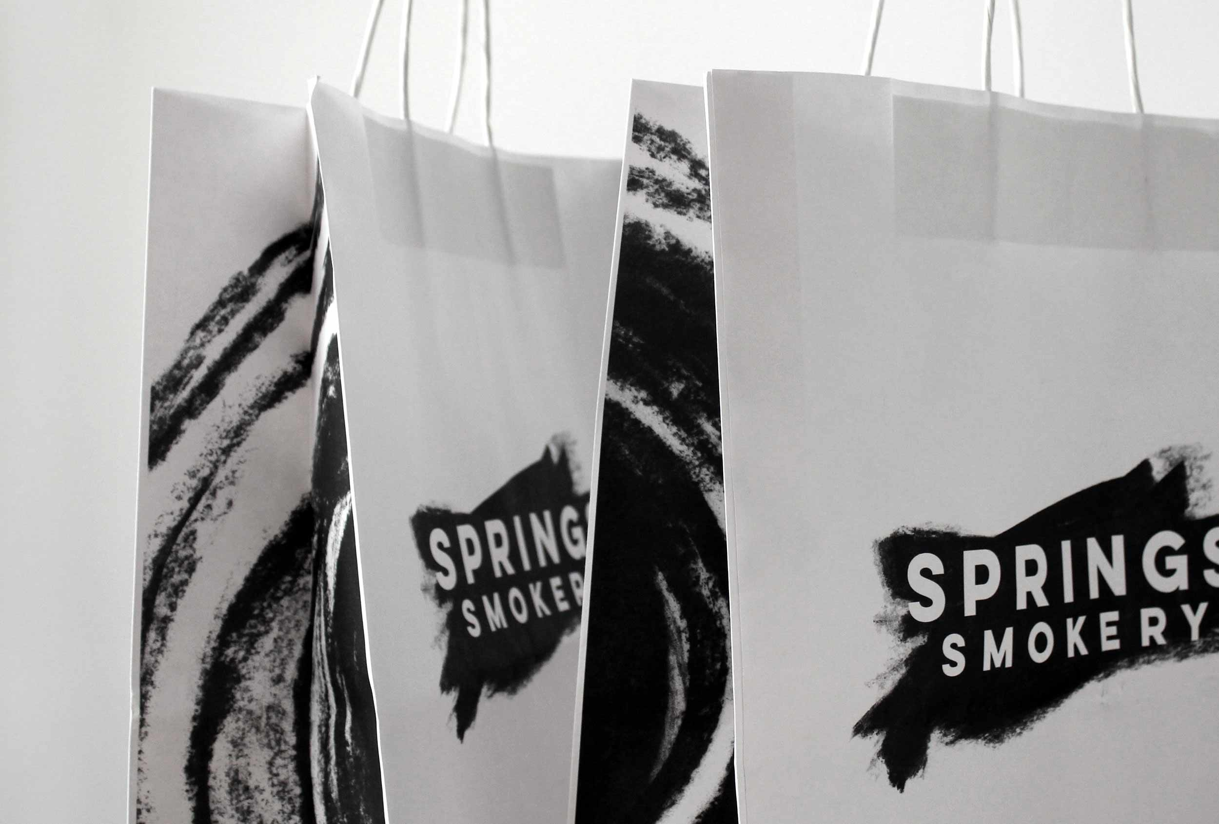 Bag design for Springs' Smokery.
