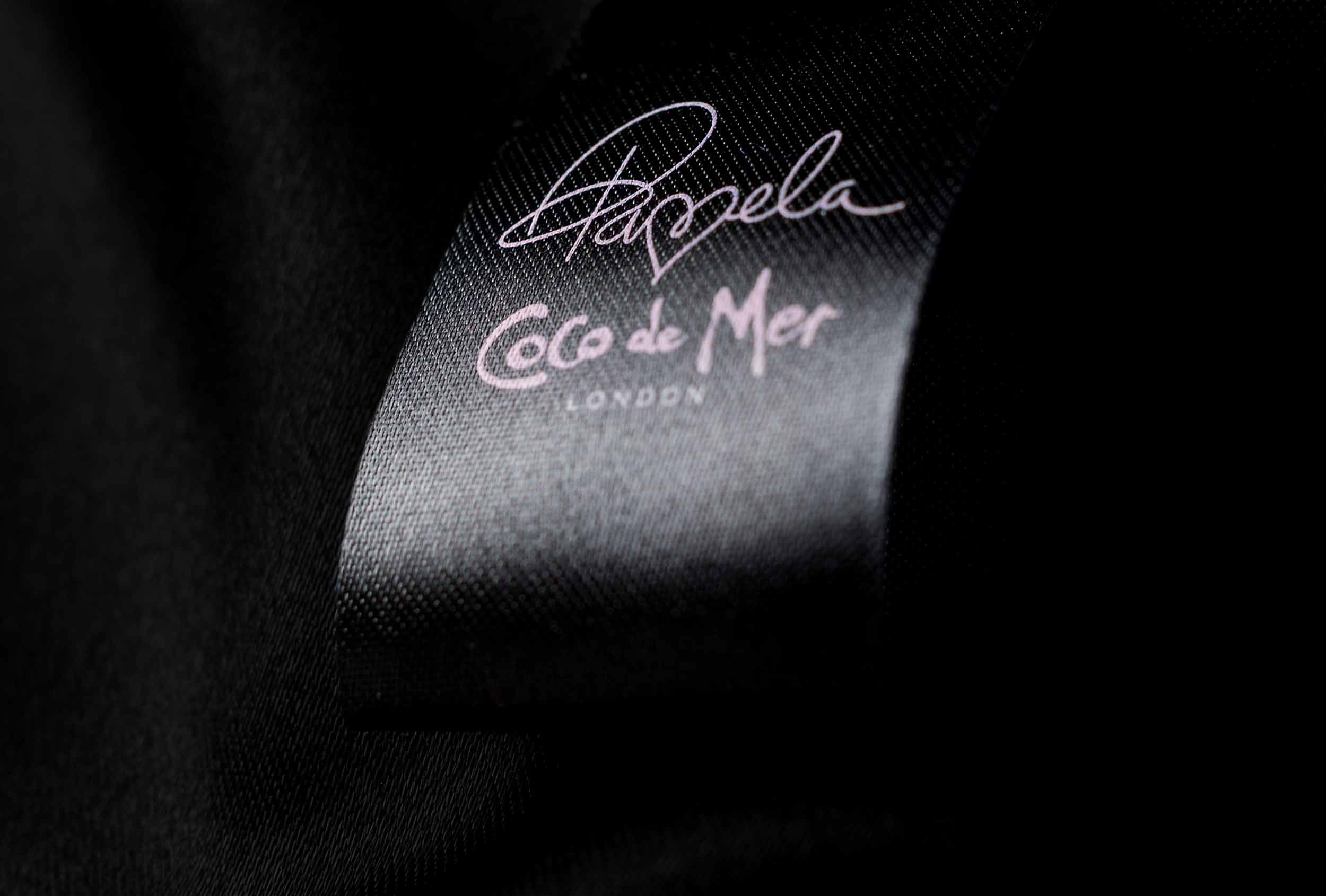 Design detail of Pamela Loves Coco de Mer collection.