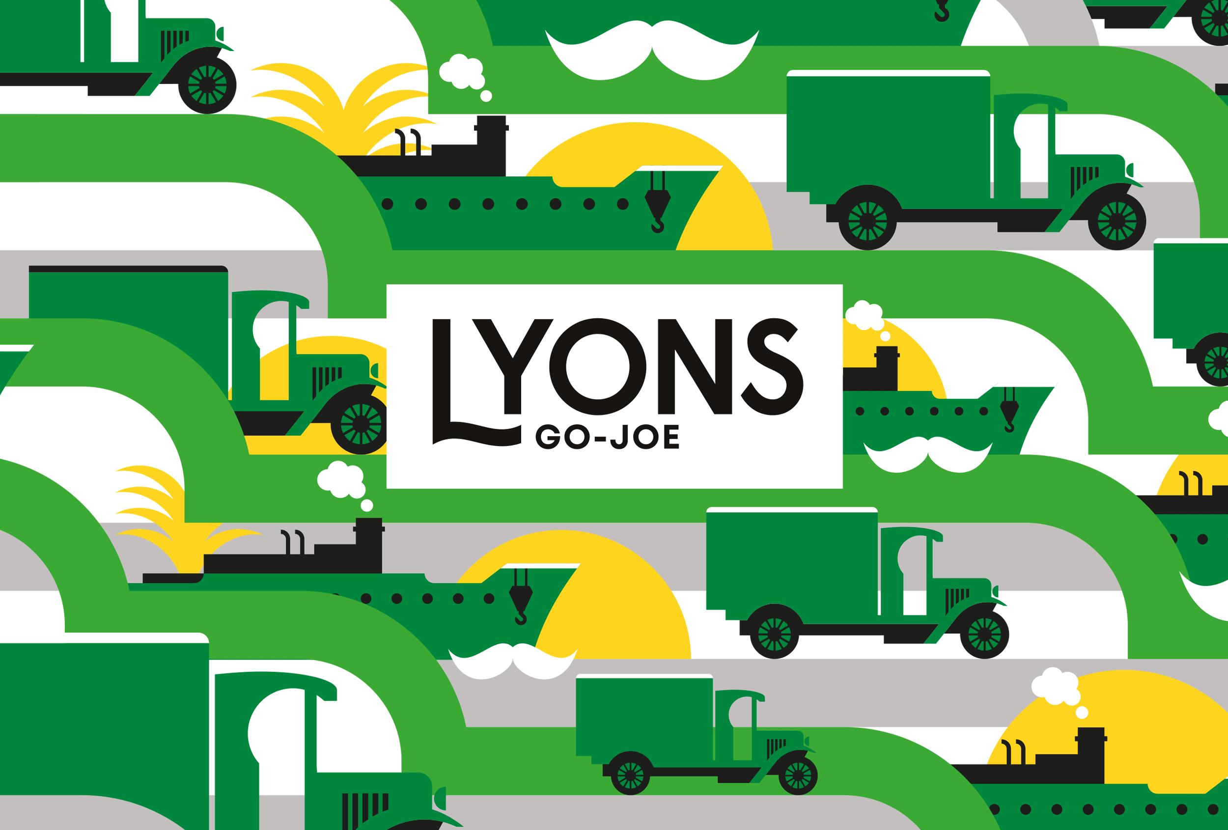 Branding for Lyons Go-Joe. Design by Distil Studio for UCC coffee.