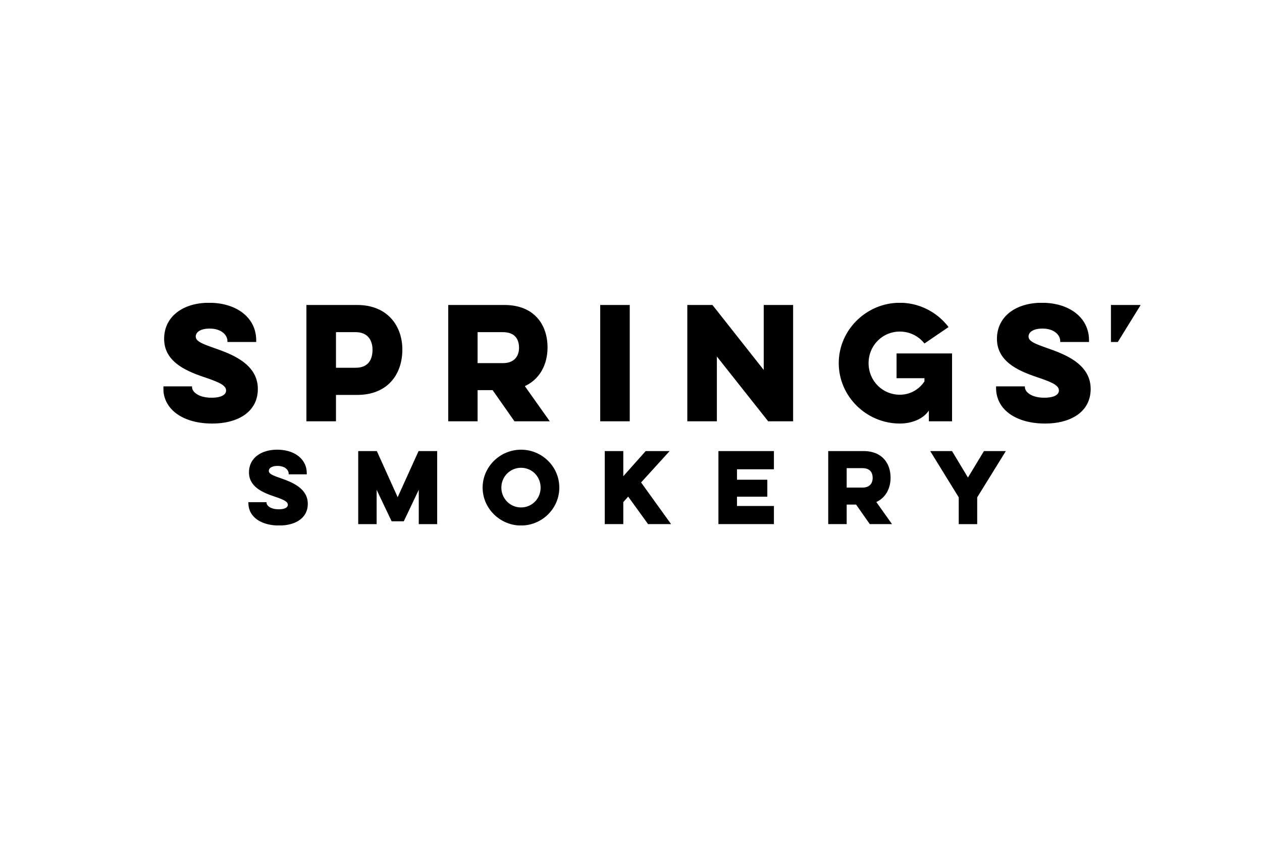 Wordmark design for Springs' Smokery.