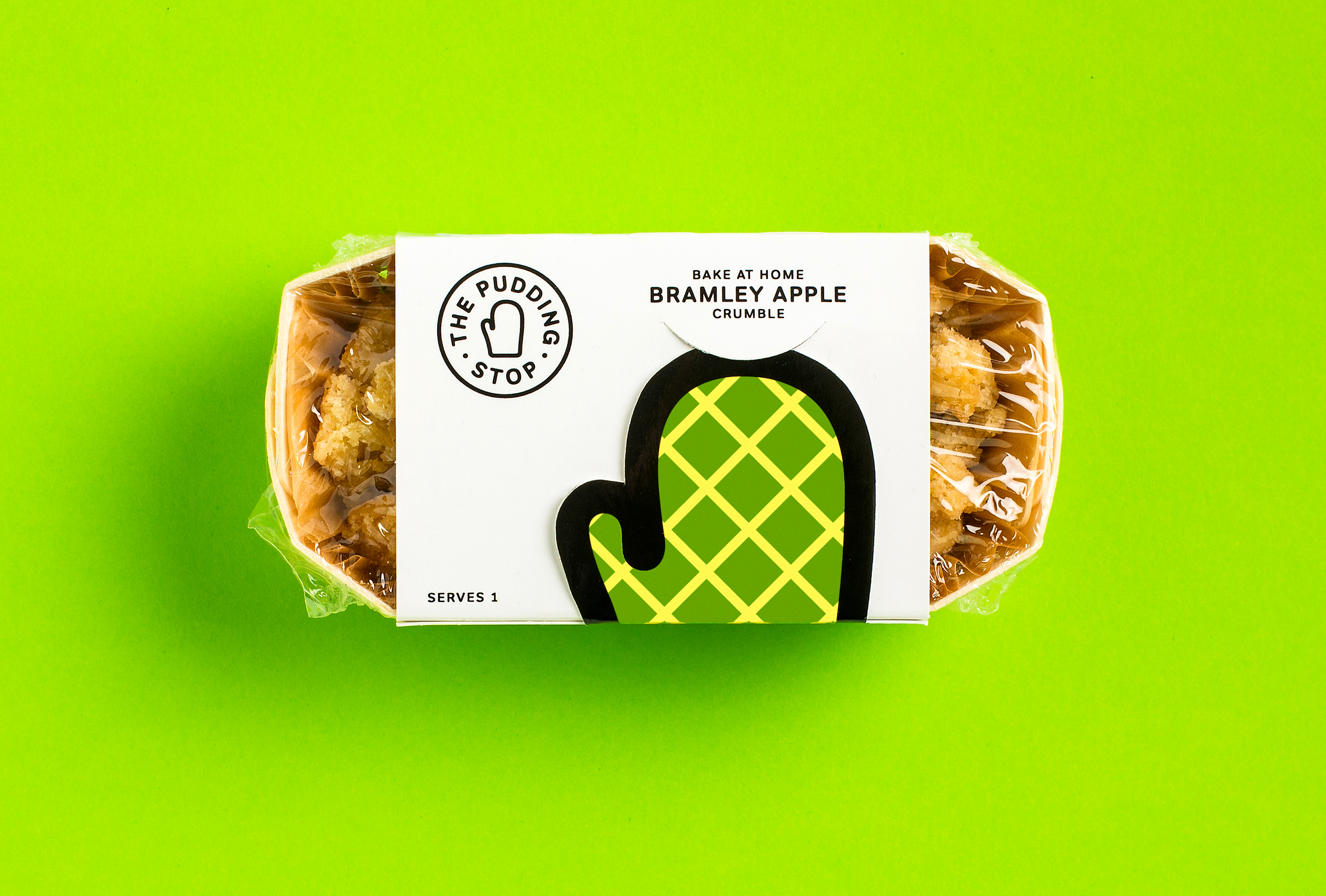 Branded packaging featuring a pop-up mitt graphic, designed by Distil Studio