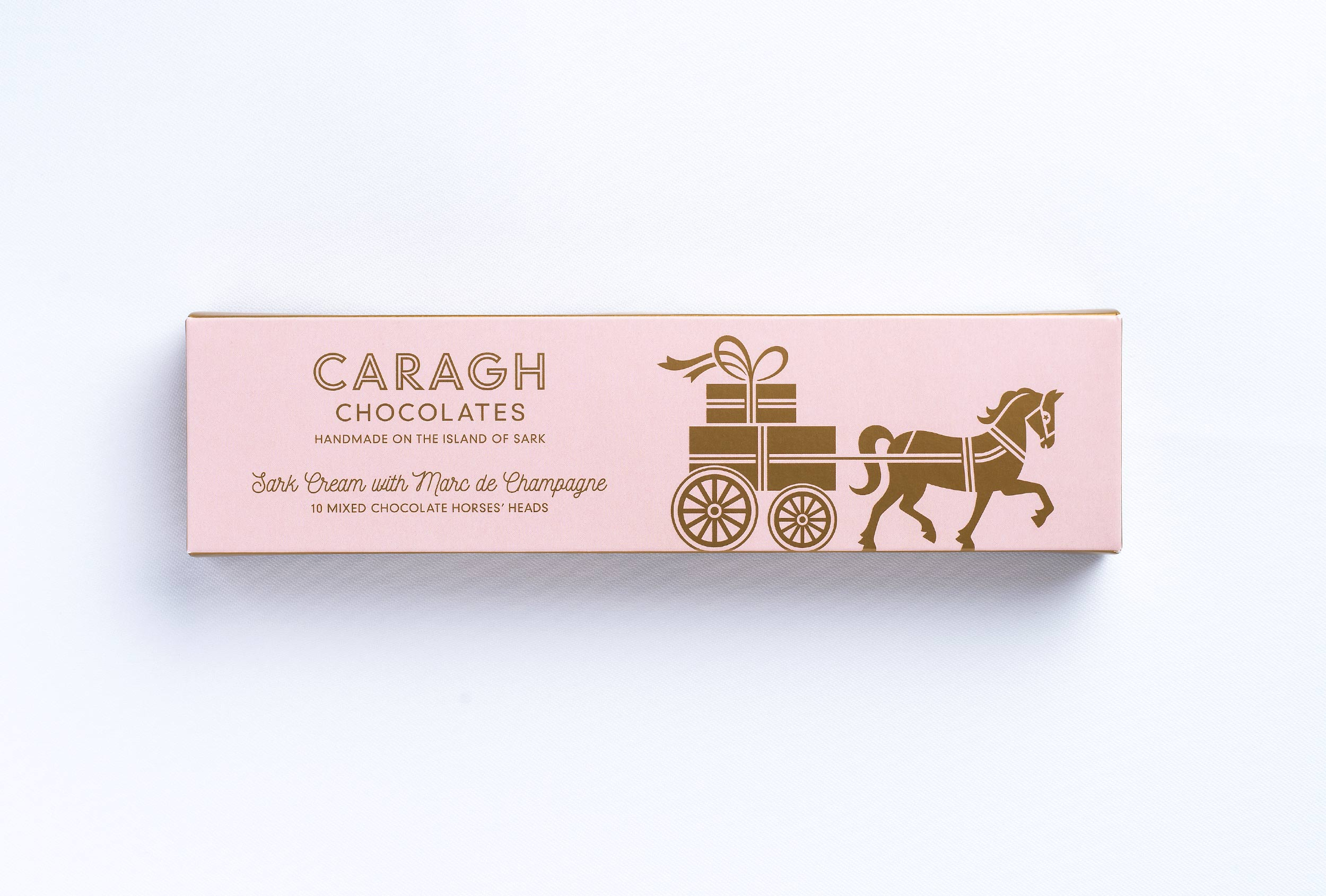 Branded packaging design for Caragh Chocolates based on Sark.