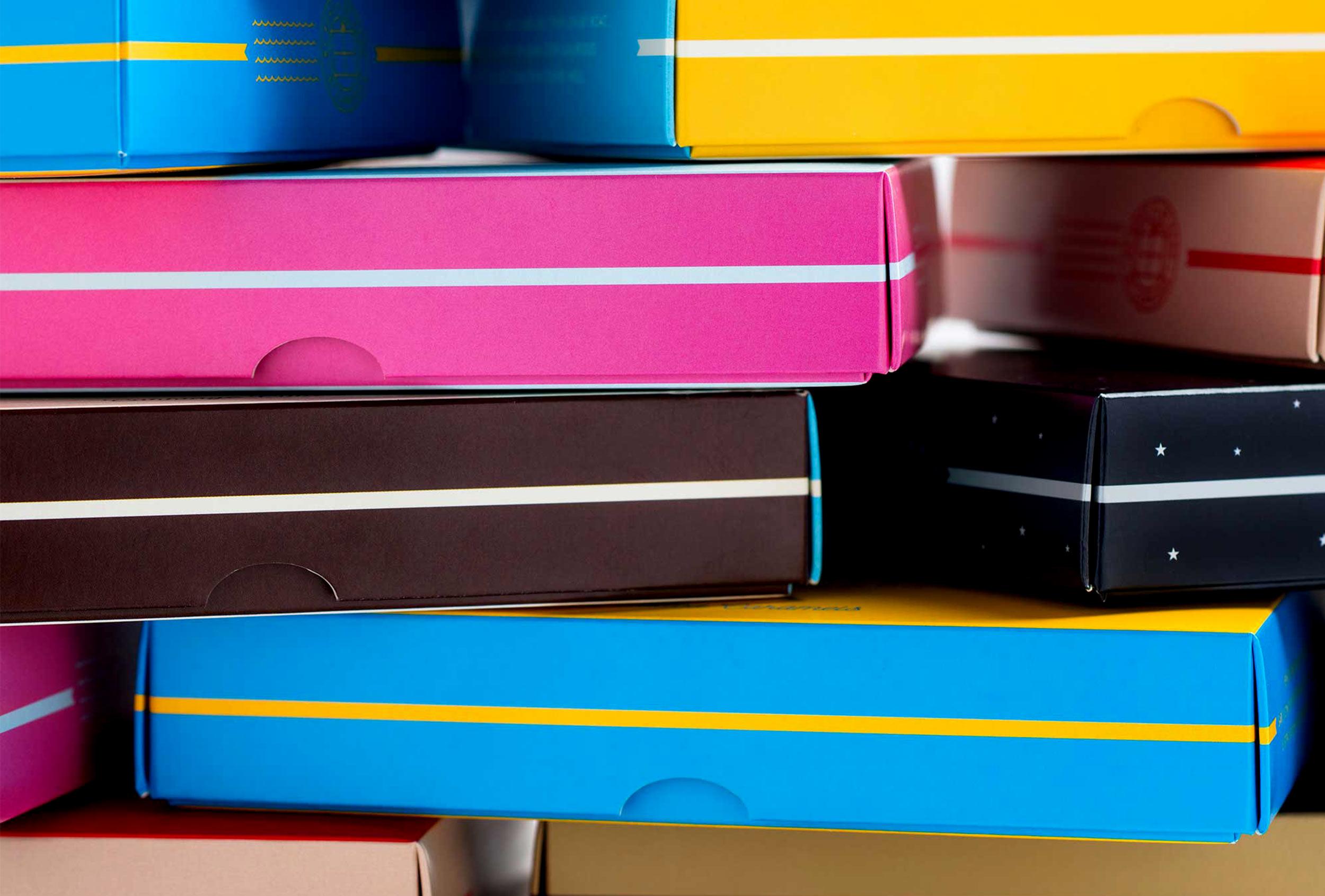 Design detail of Caragh Chocolates packaging, design by Distil Studio.
