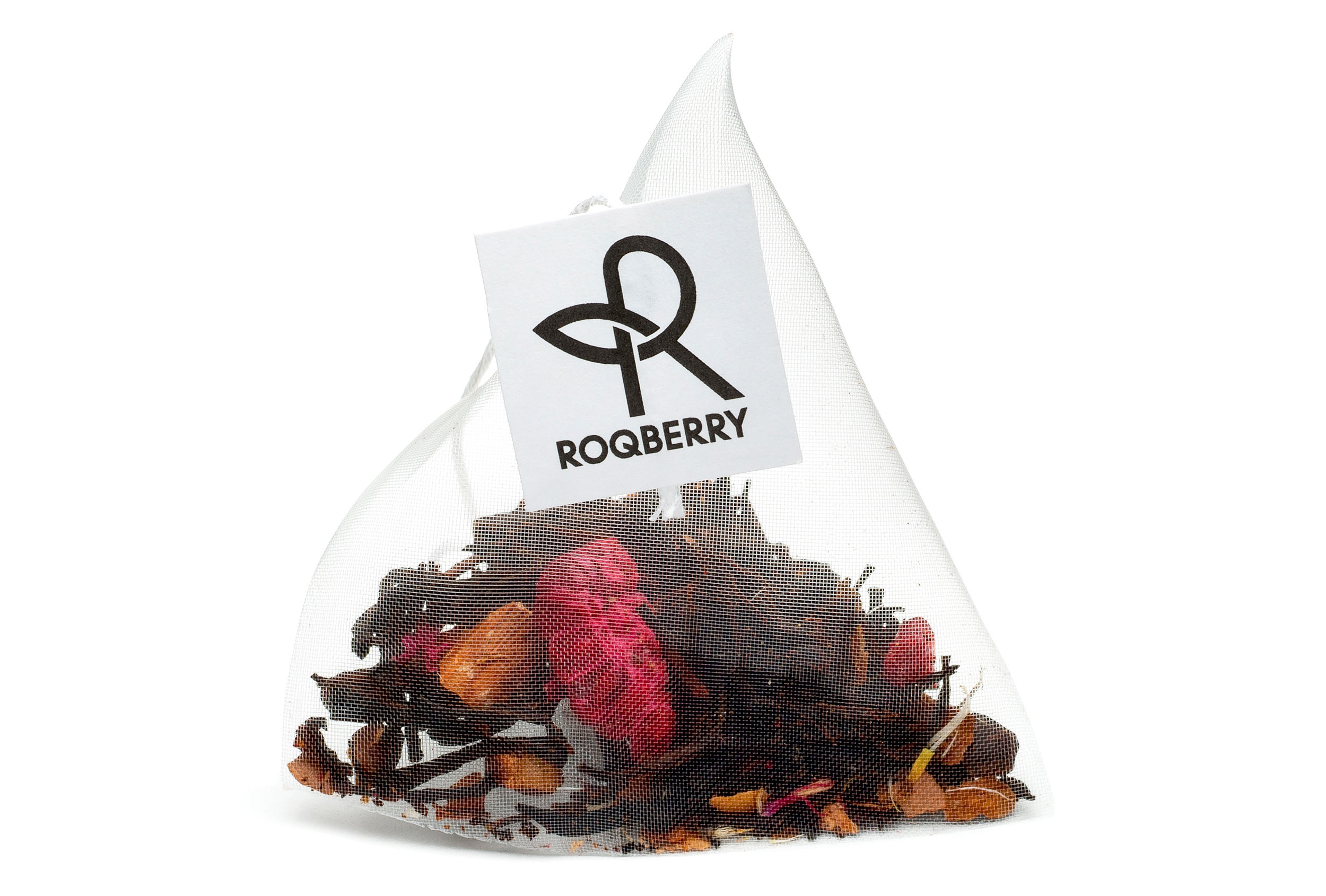 Roqberry pyramid, plastic free bag.