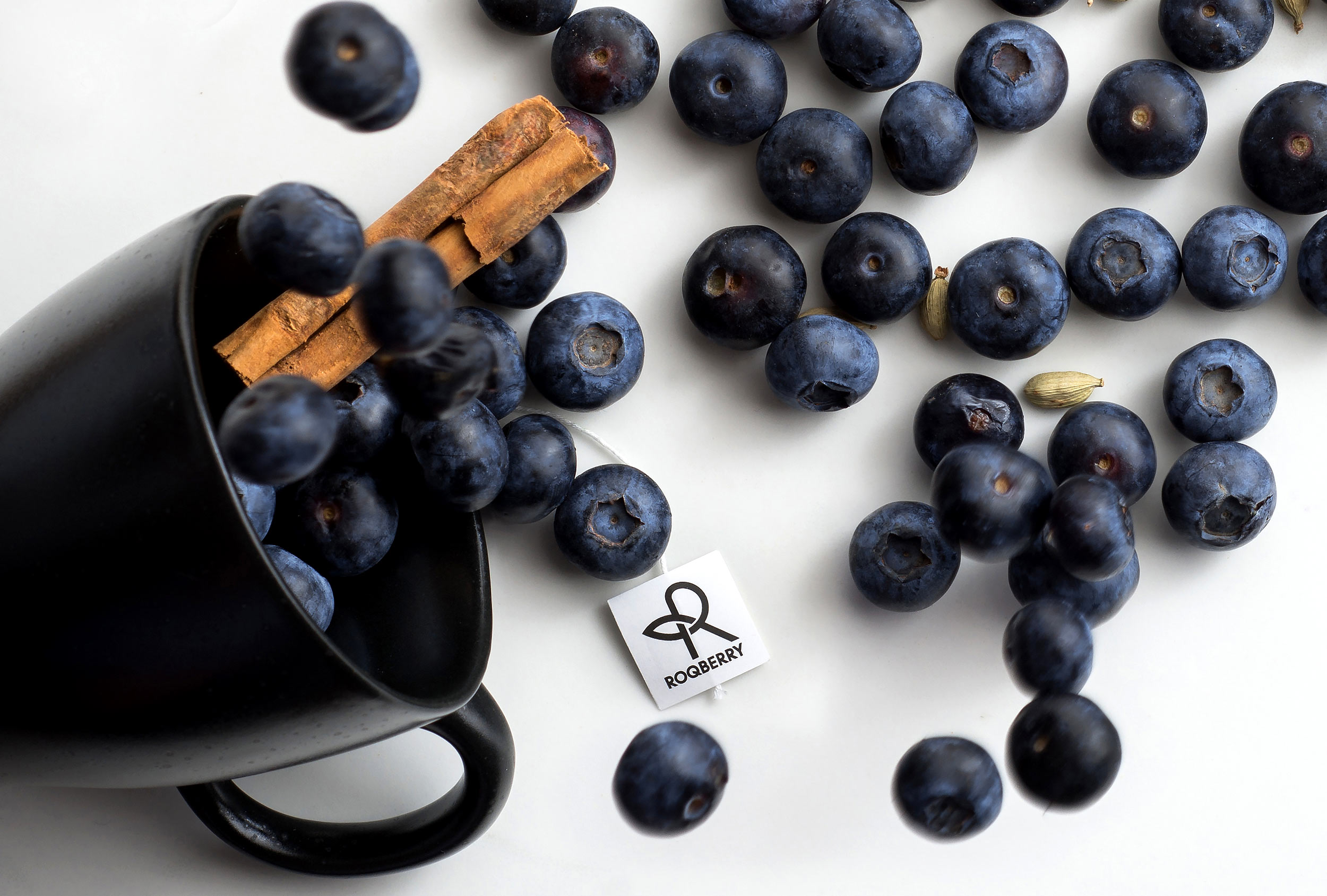 Roqberry Spiced Blueberry. Art directed by Distil Studio. Photography by Michael Feather.