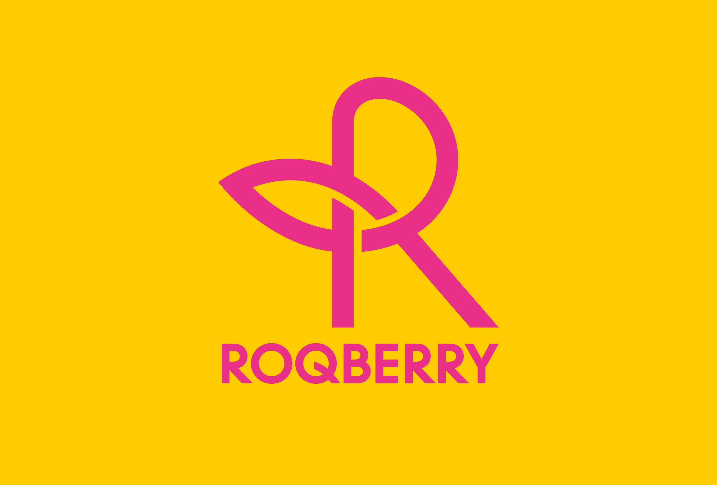 Brandmark for Roqberry designed by Distil Studio.