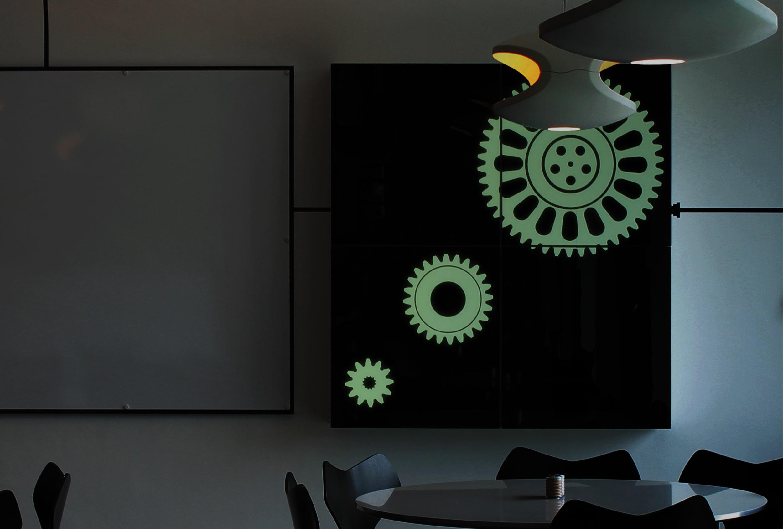 Innovative thinking - glow in the dark gears.