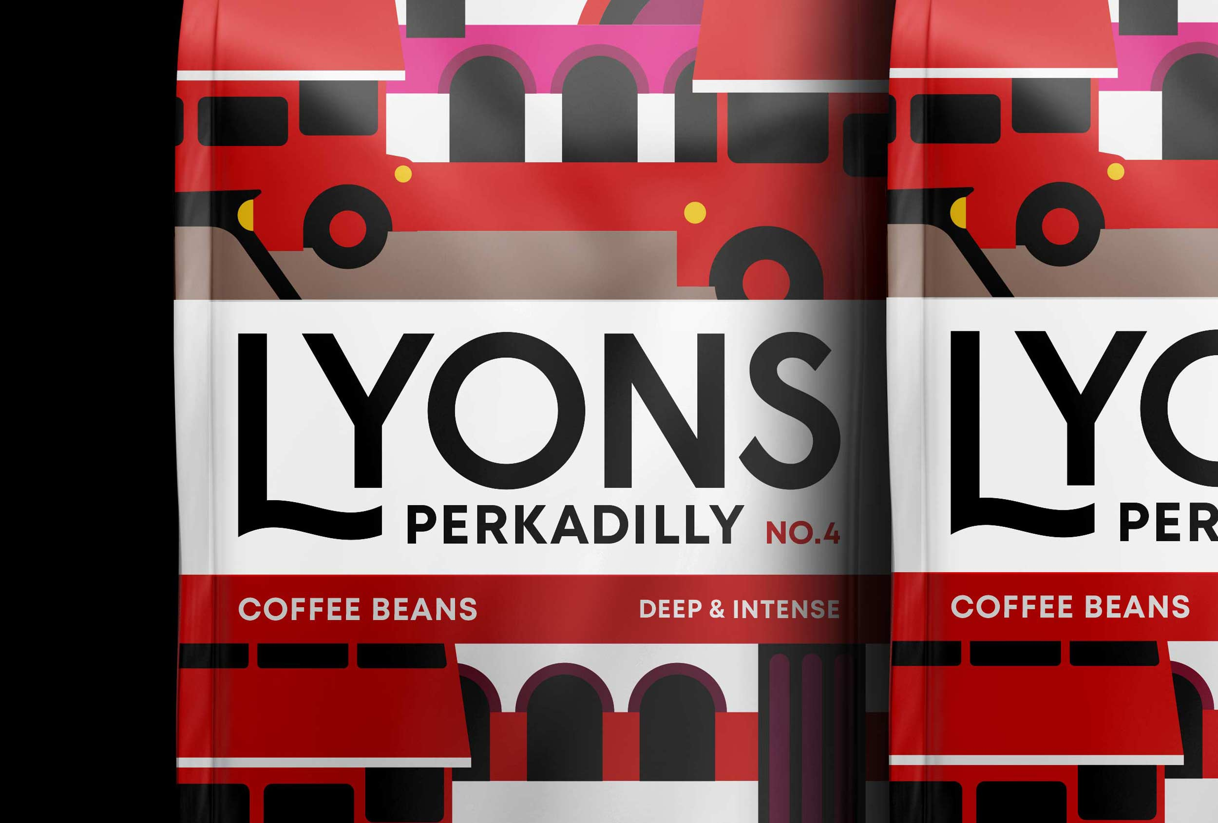 Packaging detail of Lyons Perkadilly. Naming and brand design by Distil Studio for UCC coffee.