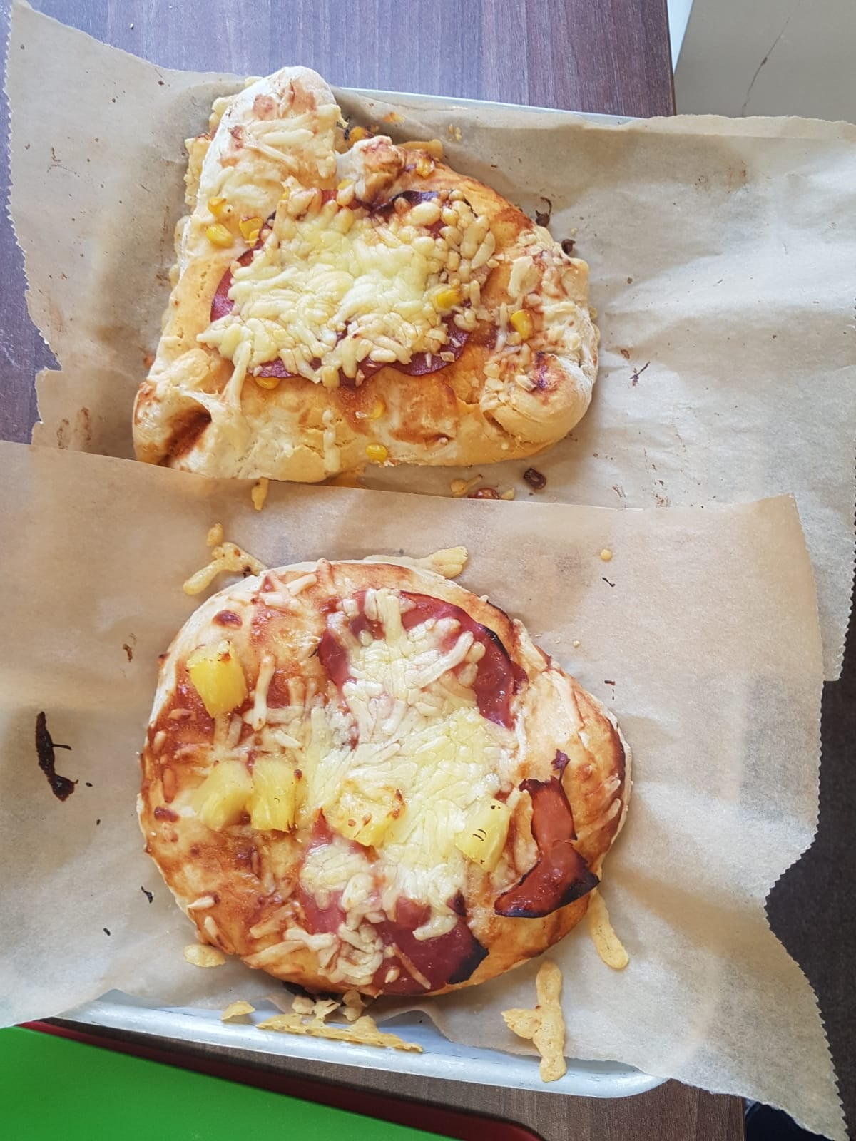 Homemade pizza made by Thrive students at The Mix Stowmarket