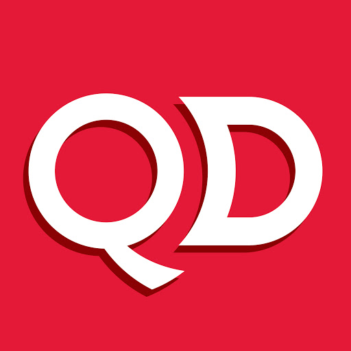 QD Logo. Supporter of The Mix Stowmarket.