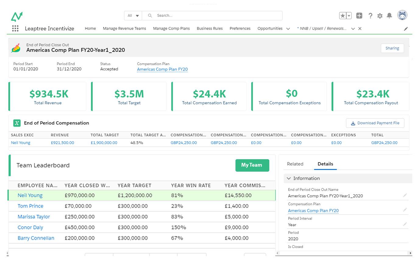Incentive compensation management software