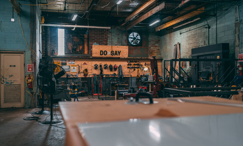 A picture of the Taylors Mill workshop
