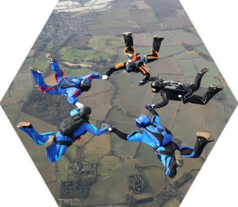 Group Sky Diving