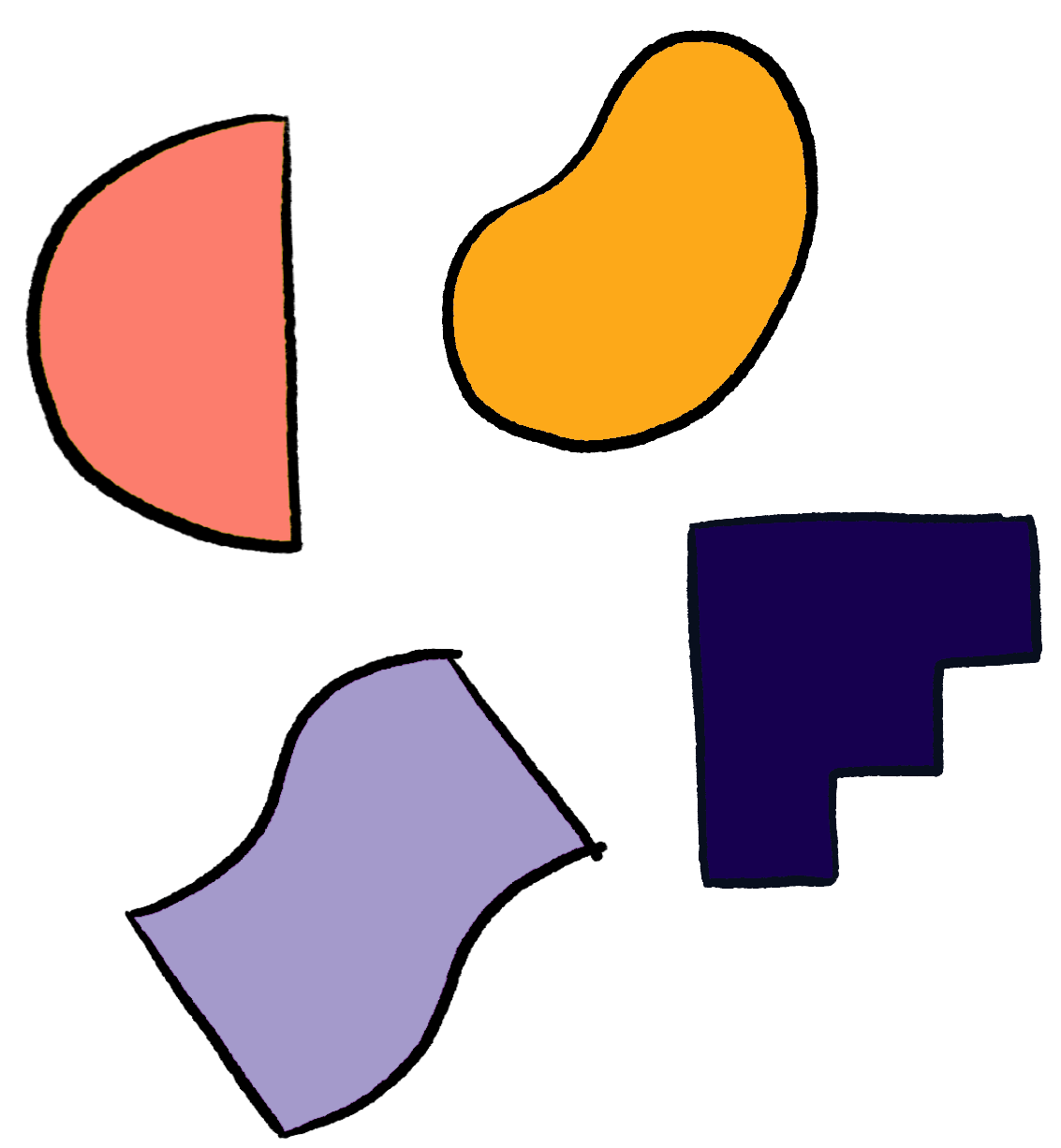 Abstract illustration of shapes