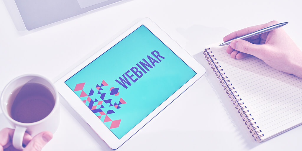 Taking notes on a webinar