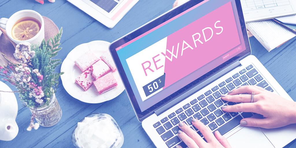 Computer screen showing a $50 reward