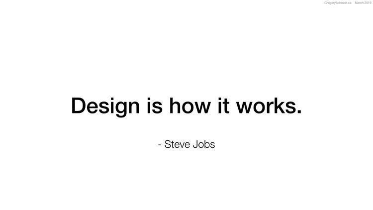 design is how it works steve jobs