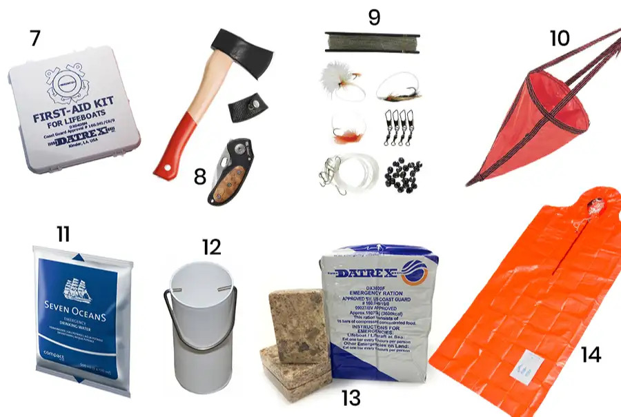 lifeboat equipment list continued
