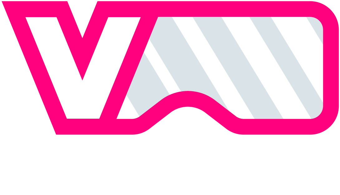 VRespawn logo with white colored text