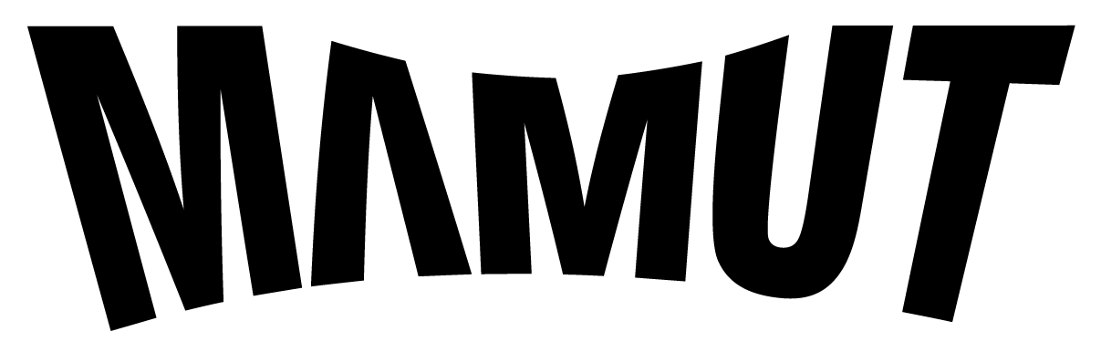 Mamut VR logo in black with white contour