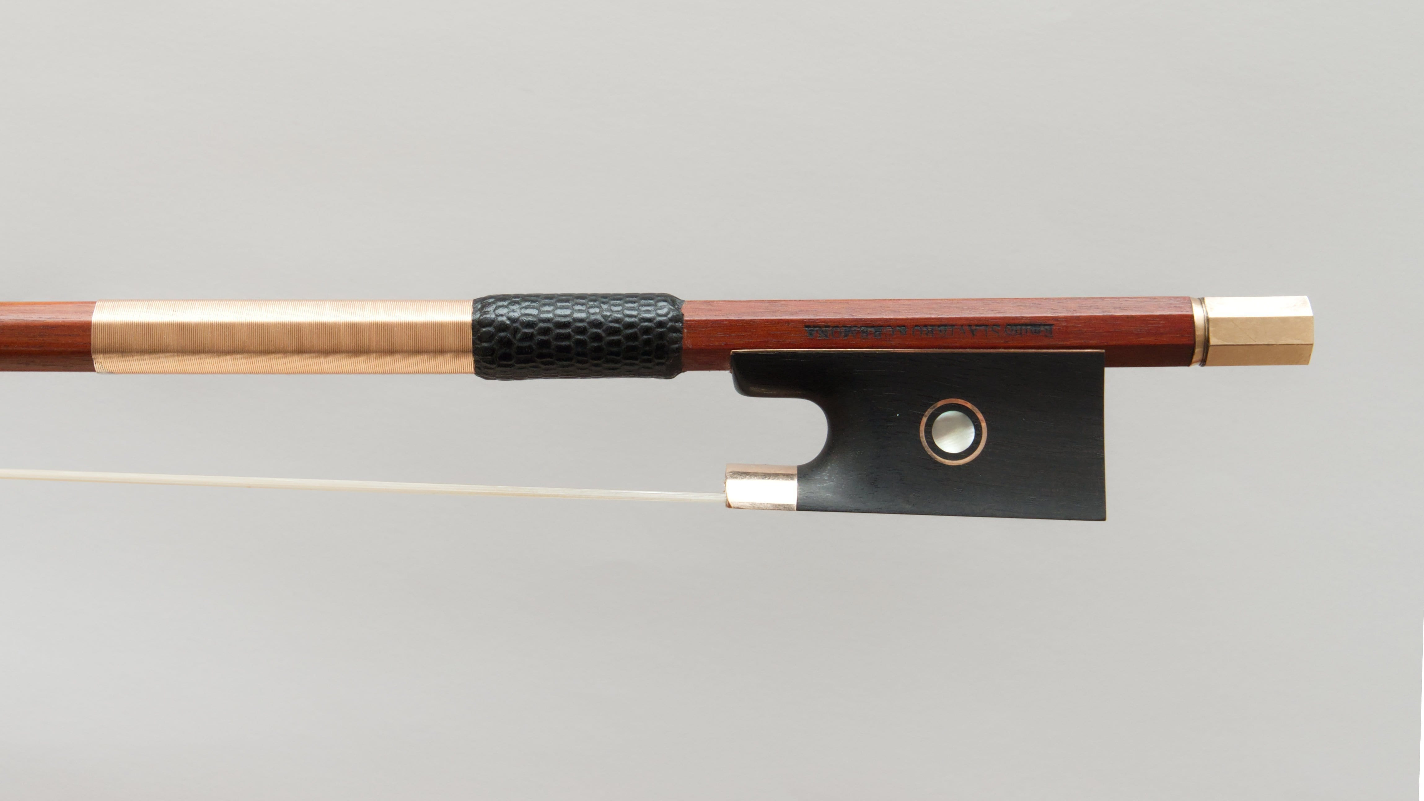 Very Fine Gold Viola Bow by Emilio Slaviero, 2020