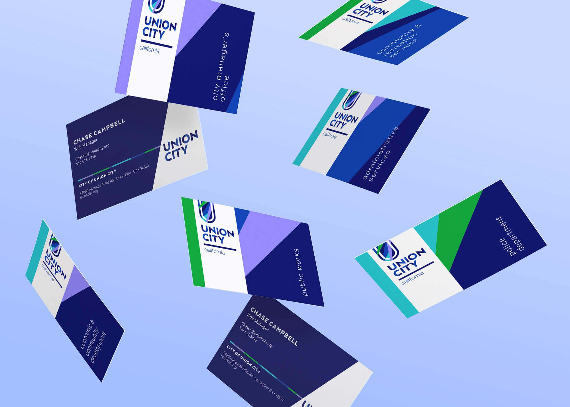 Union City Business Cards Mockup