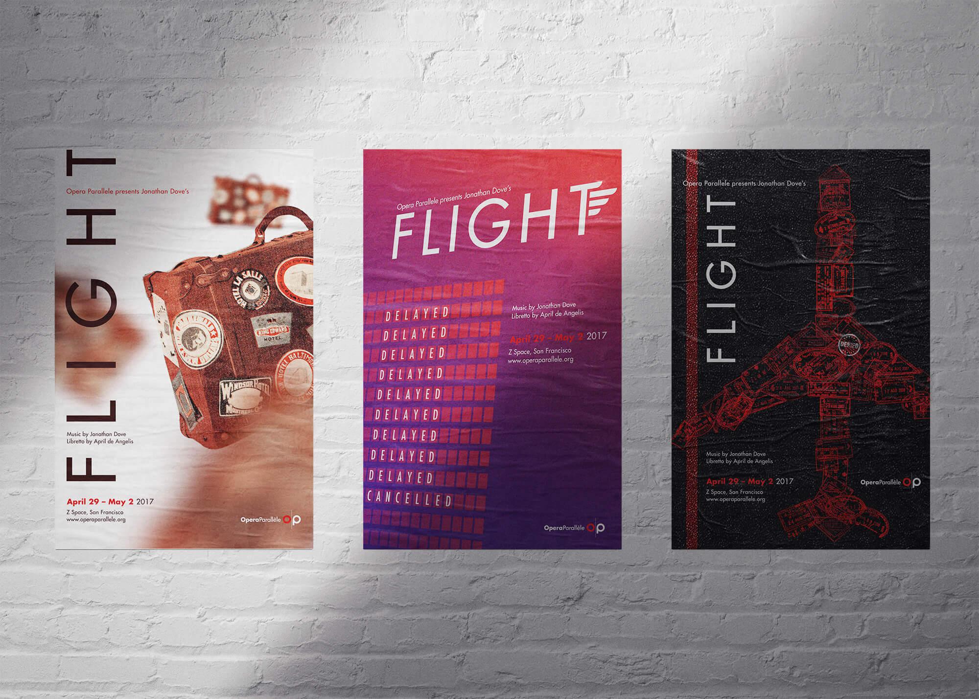 Opera Parallele Flight Poster Concept Mockups