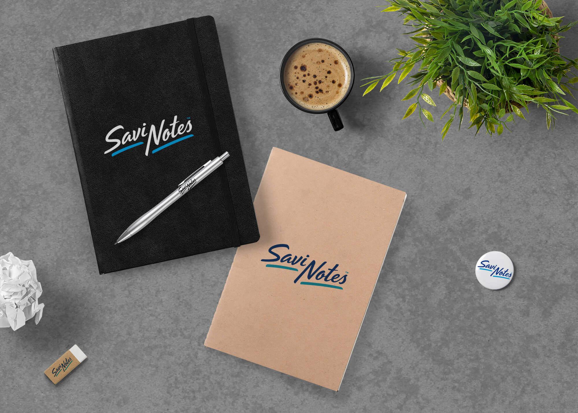 Savinotes Notebooks Mockup
