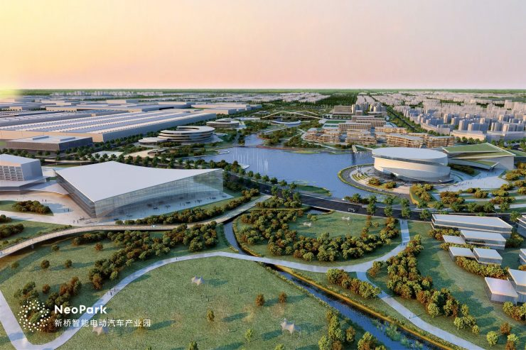 Rendering of Nio Park Design