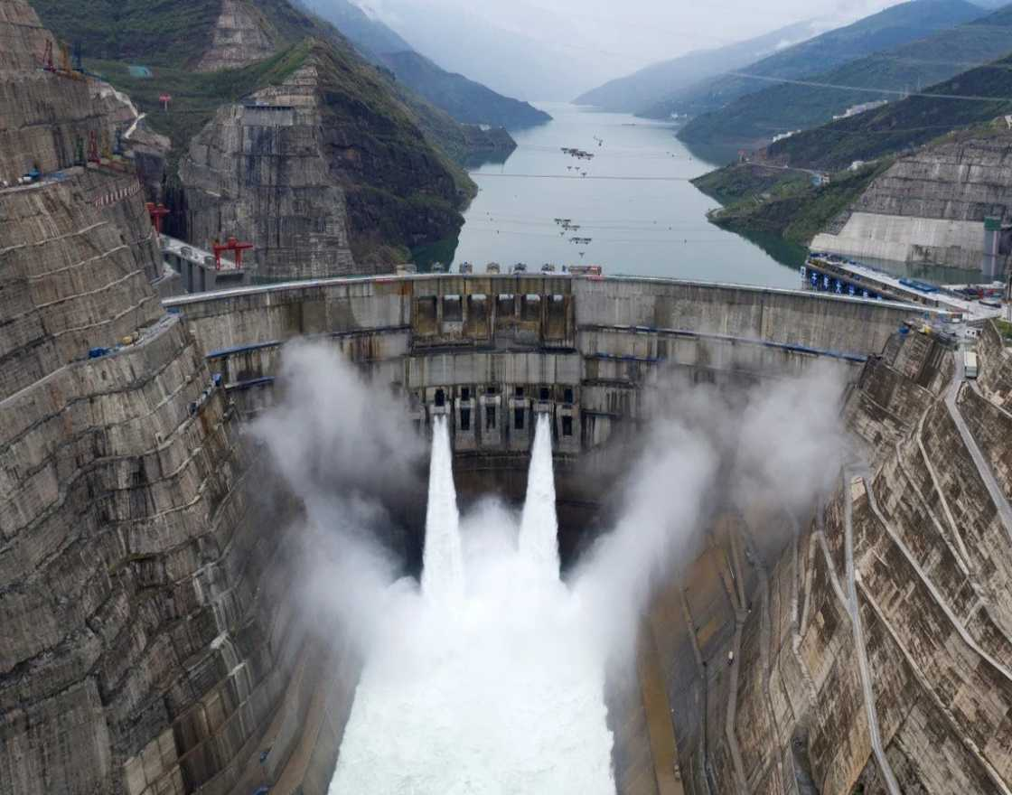 Baihetan hydropower plant