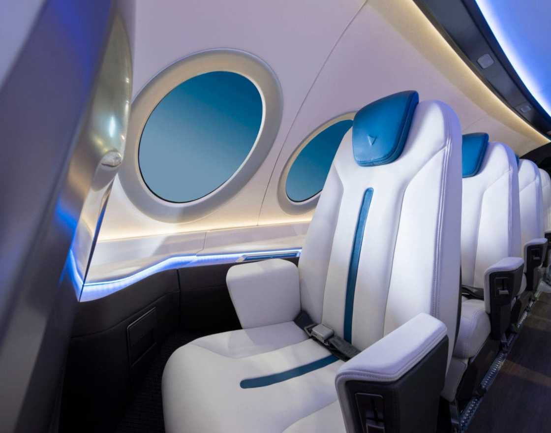 Inside shots of Alice electric airplane in Vannes