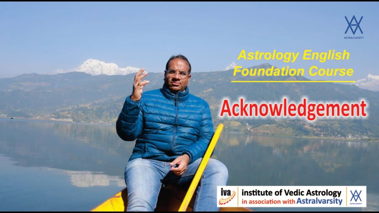 vedic astrology courses - acknowledgement