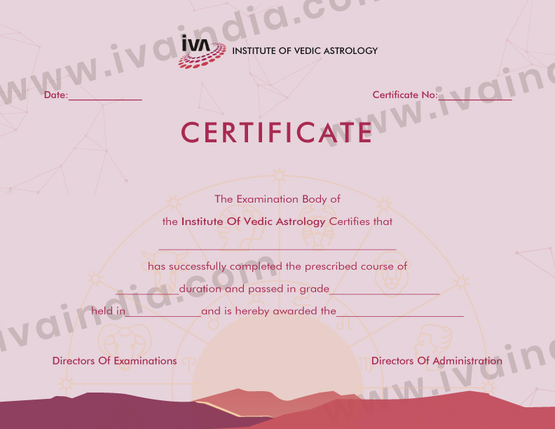 Professional Diploma Course Certificate